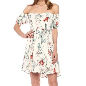 ASTR off the should floral dress (small)